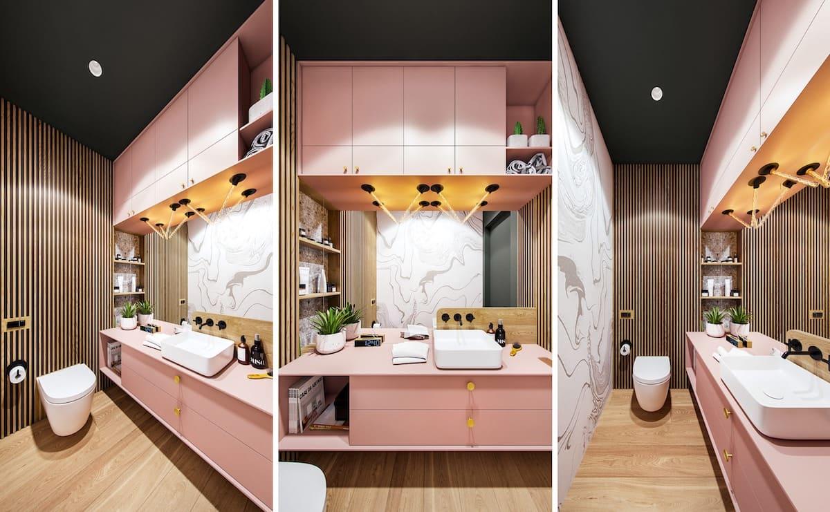 Ванная в розовом цвете – модная новинка 2021 года