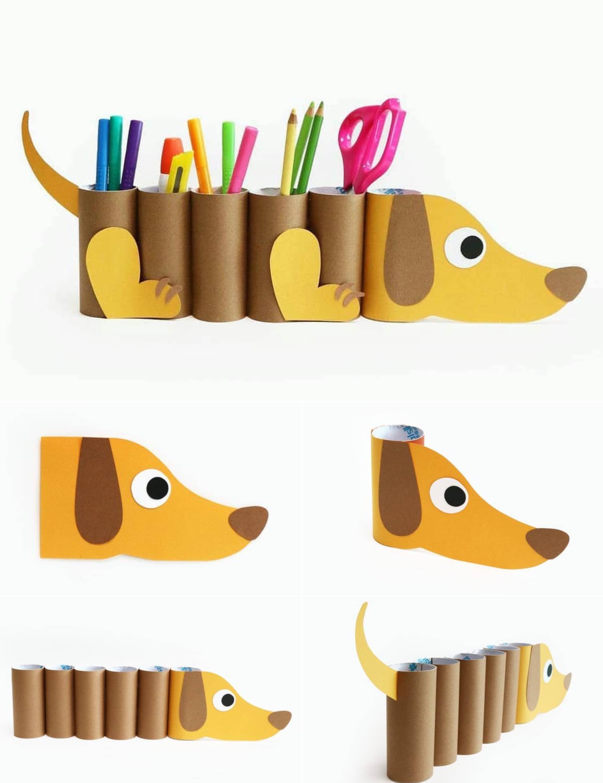 Веселая подставки под ручки в виде милой собачки