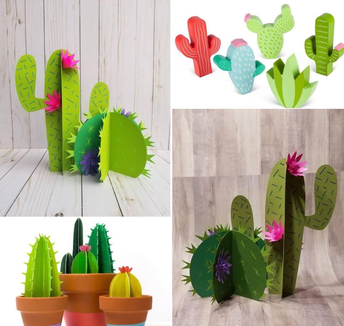 Забавные разноцветные кактусы