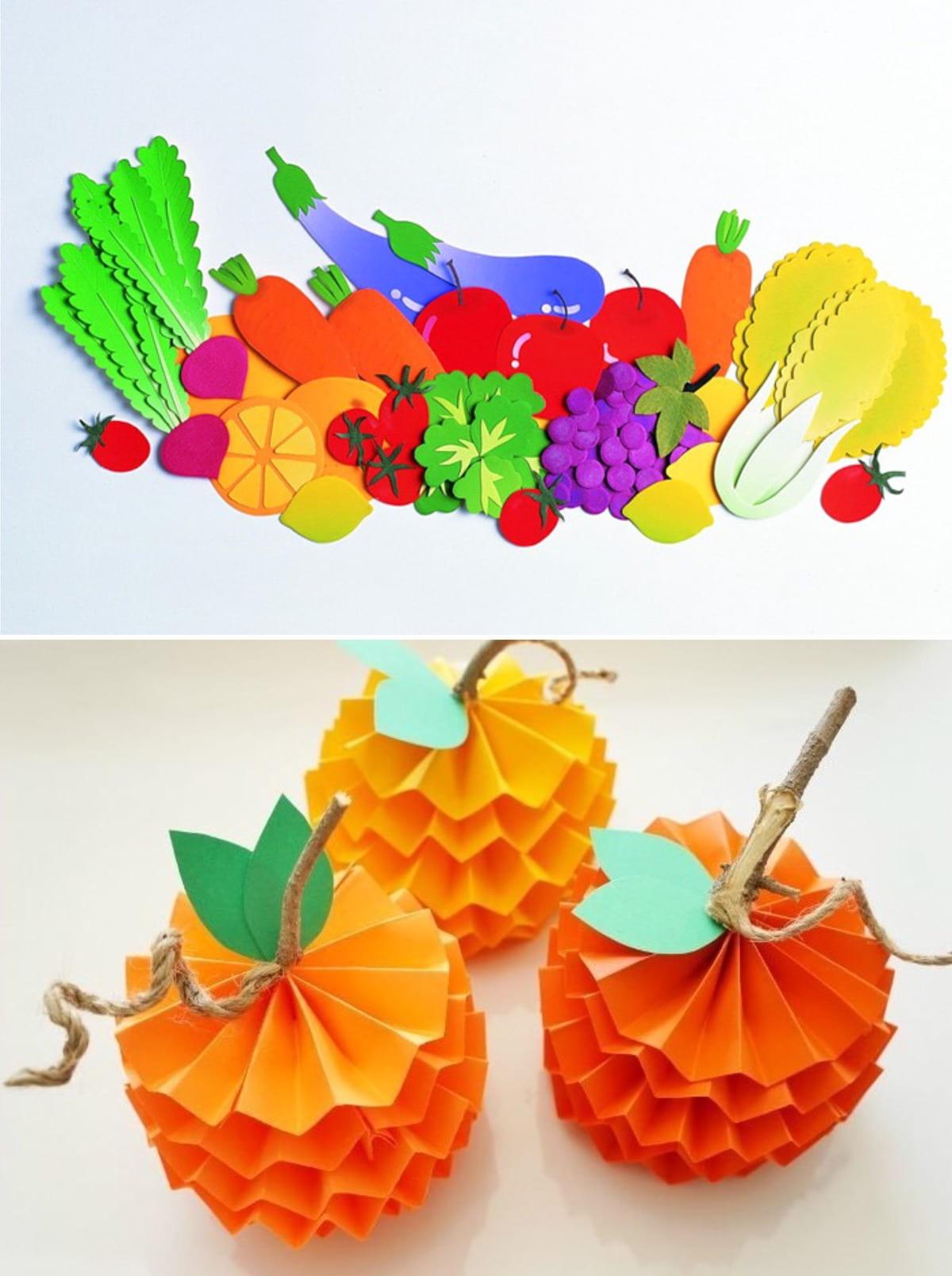 Яркое цветное украшение для импровизированного детского стола