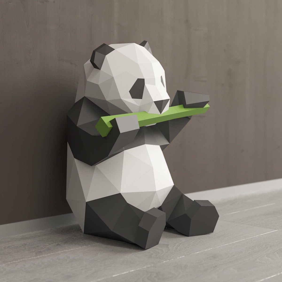 Панда – традиционный символ японского интерьера