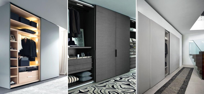 Модный интерьер со шкафом-купе
