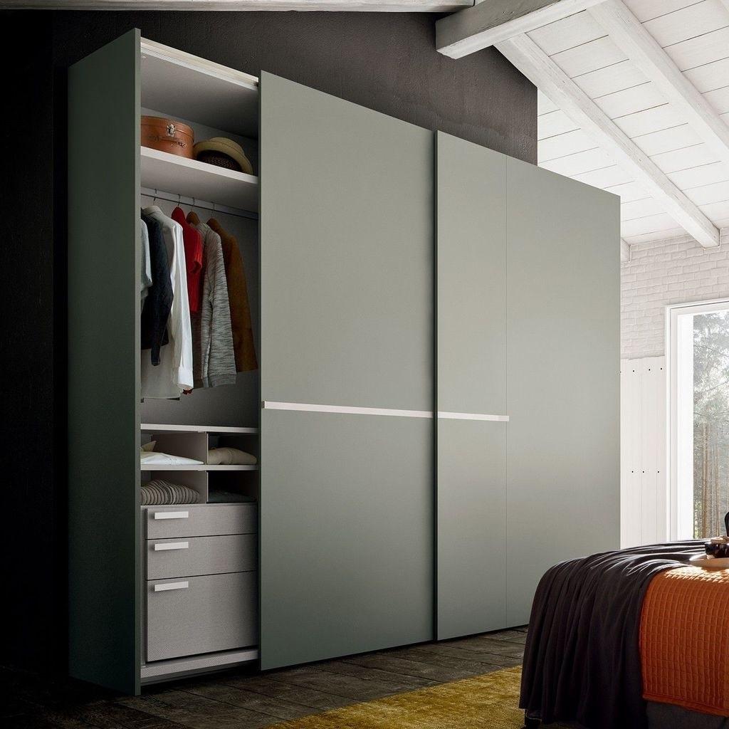 Красивый дизайн шкафа в стиле минимализм
