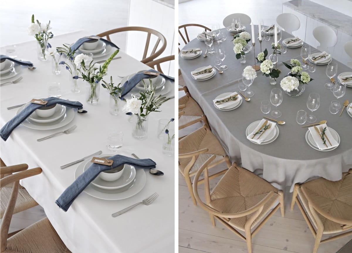 Искусно и безукоризненно украшенный стол с скандинавскими нотками минимализма