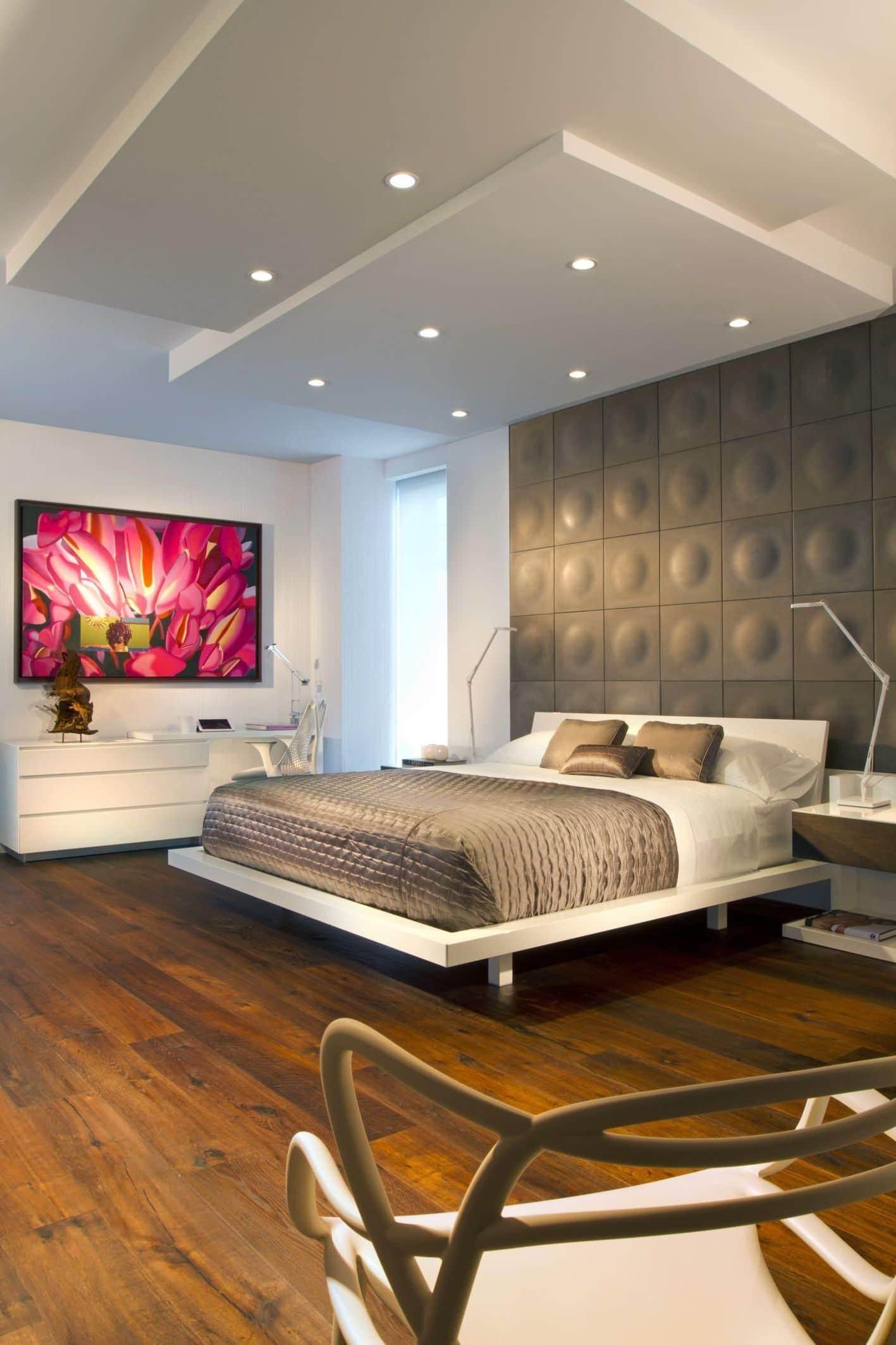 красивый дизайн потолка с подсветкой фото – 7