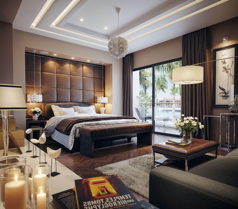 красивый дизайн потолка в спальне фото – 15