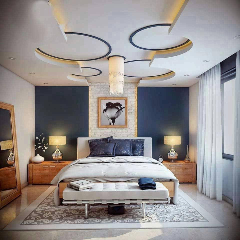 красивый дизайн потолка в спальне фото – 19