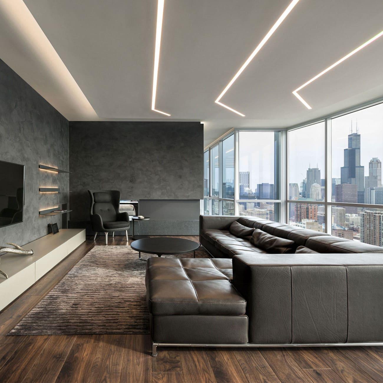 красивый дизайн потолка с подсветкой фото – 26