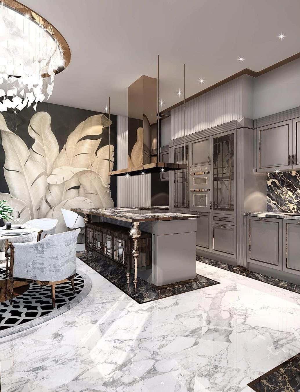красивый дизайн потолка на кухне фото – 21