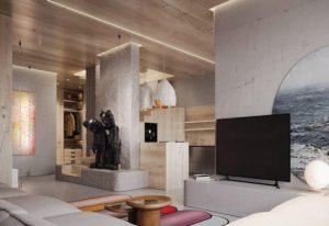 модный и красивый потолок картинка