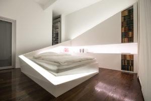 спальня в стиле хай тек