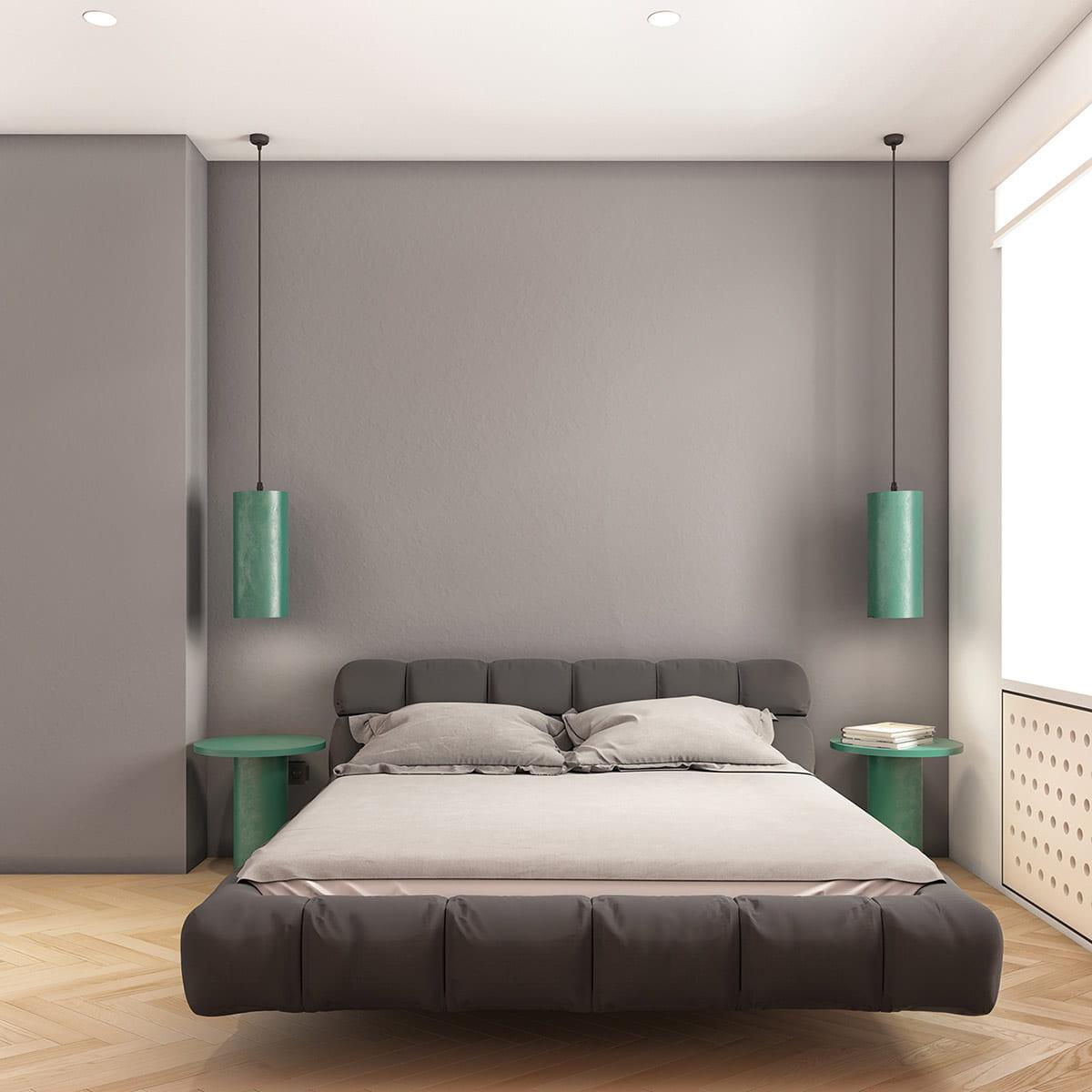 Идеальная спальня с роскошной кроватью где нет ничего лишнего