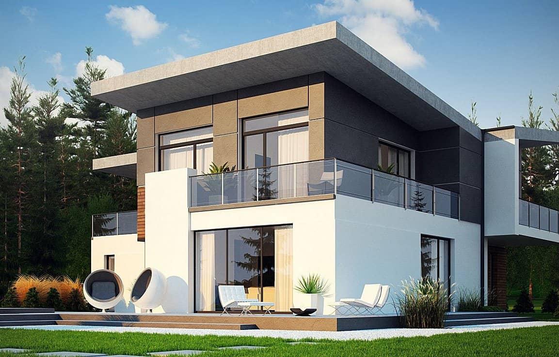 дом с плоской крышей в стиле конструктивизм фото 26