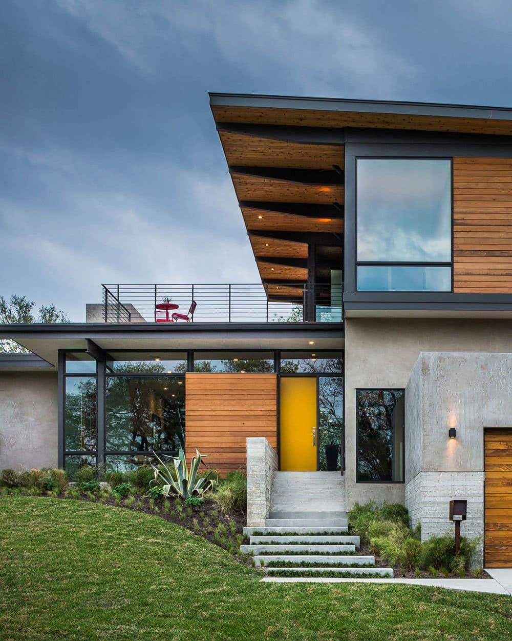 дома с плоской крышей в стиле минимализм фото 32-1