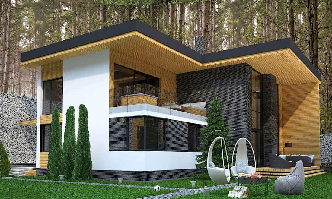 дома с плоской крышей в стиле минимализм фото 31