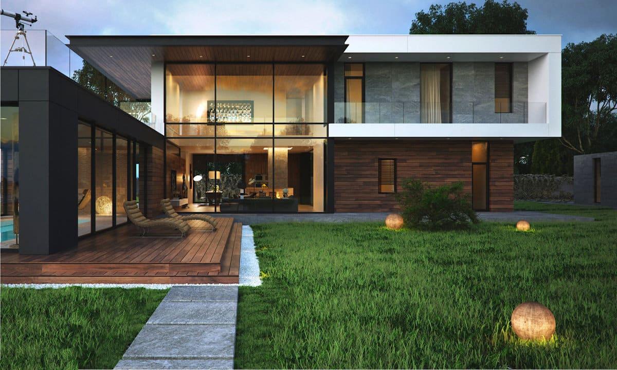 проект дома с плоской крышей фото 39