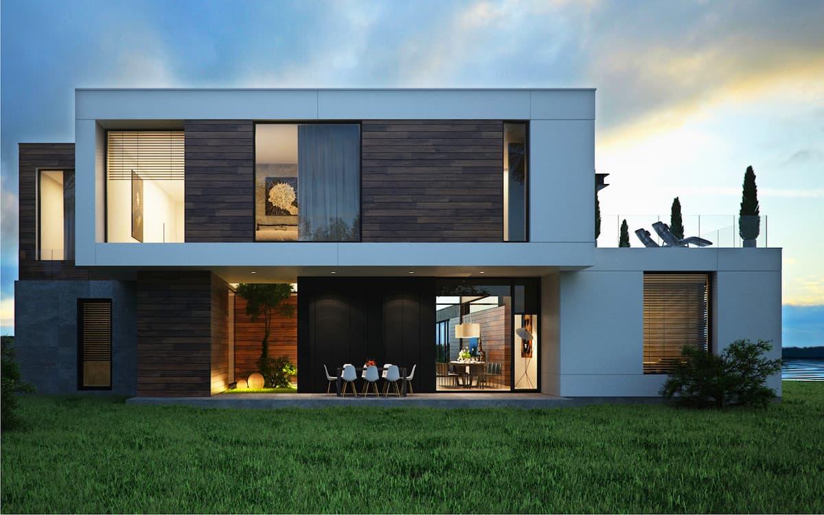 проект дома с плоской крышей фото 42