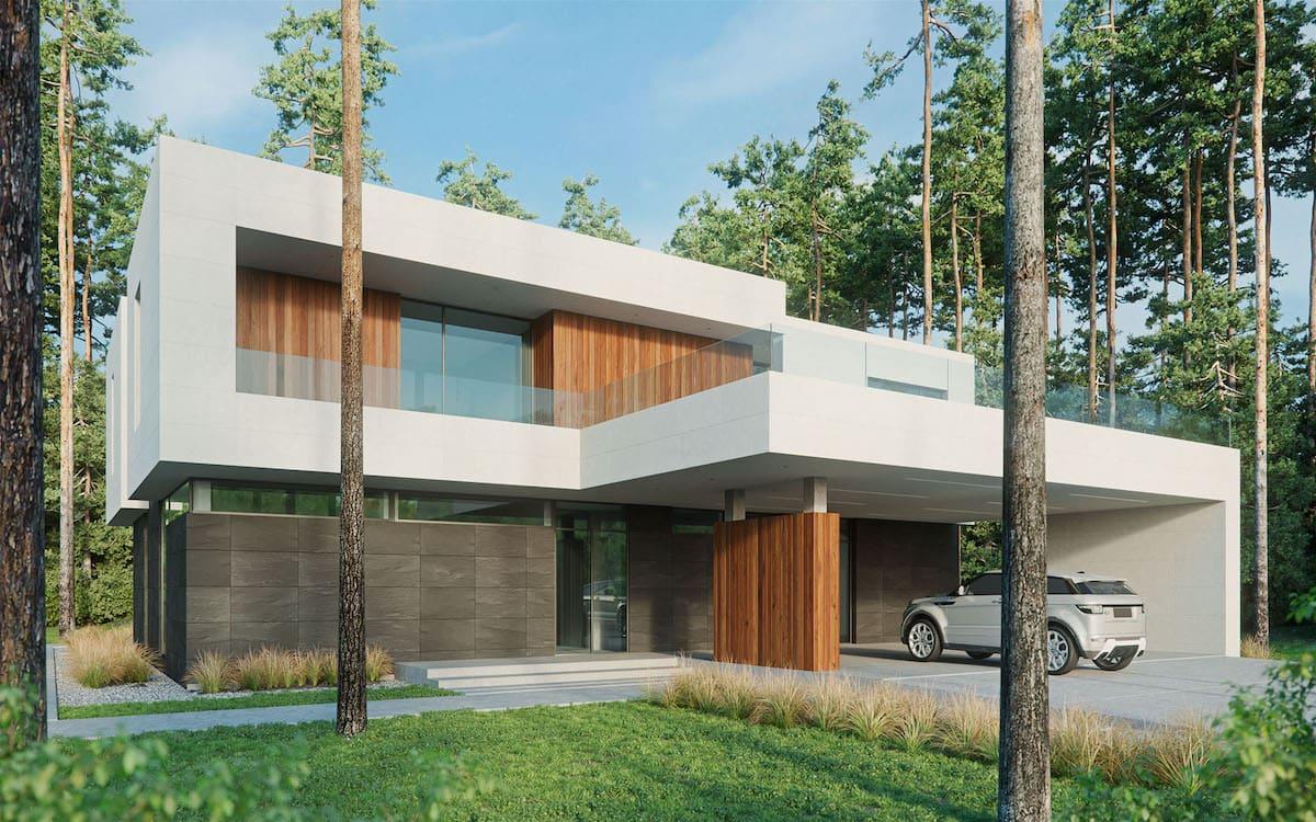 проект дома с плоской крышей фото 48