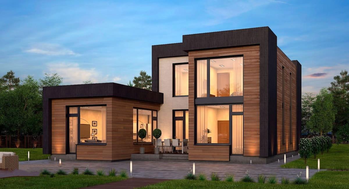 проект дома с плоской крышей фото 49