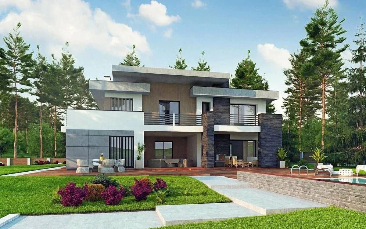 проект дома с плоской крышей фото 38