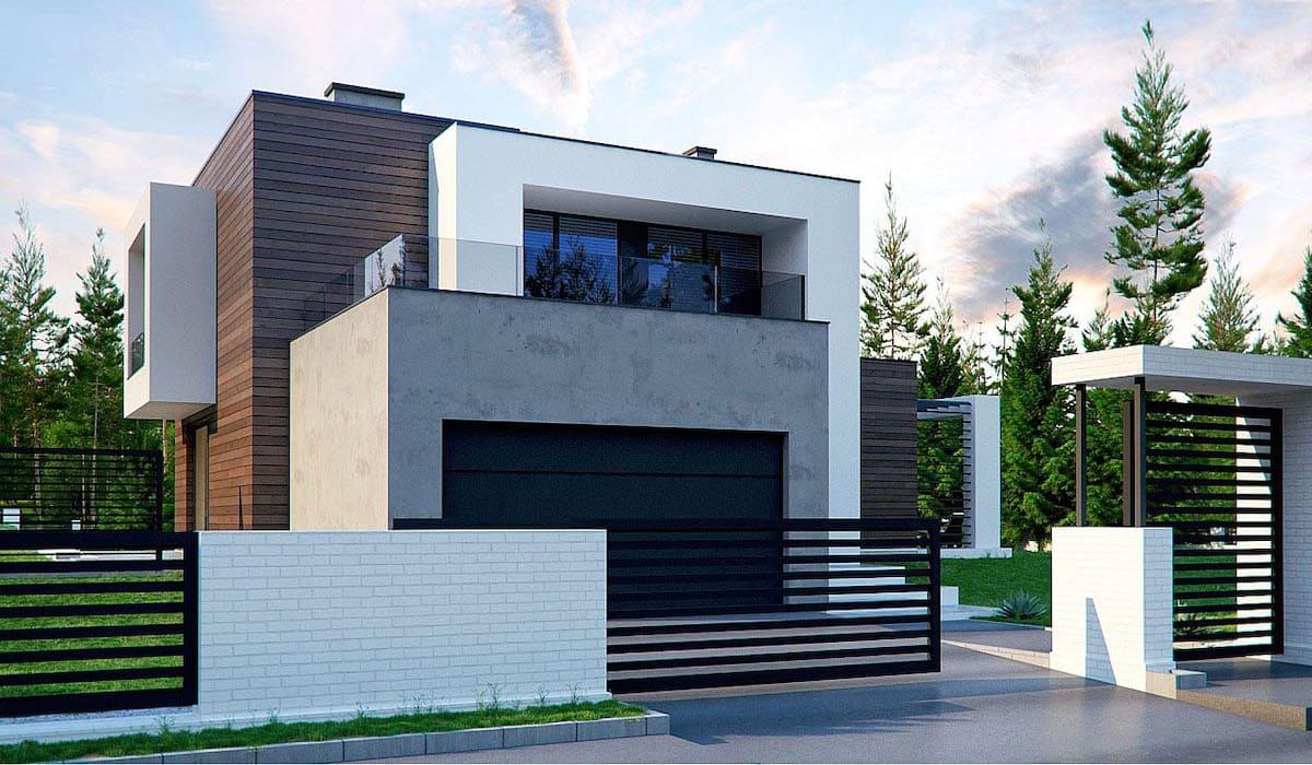 проект дома с плоской крышей фото 37