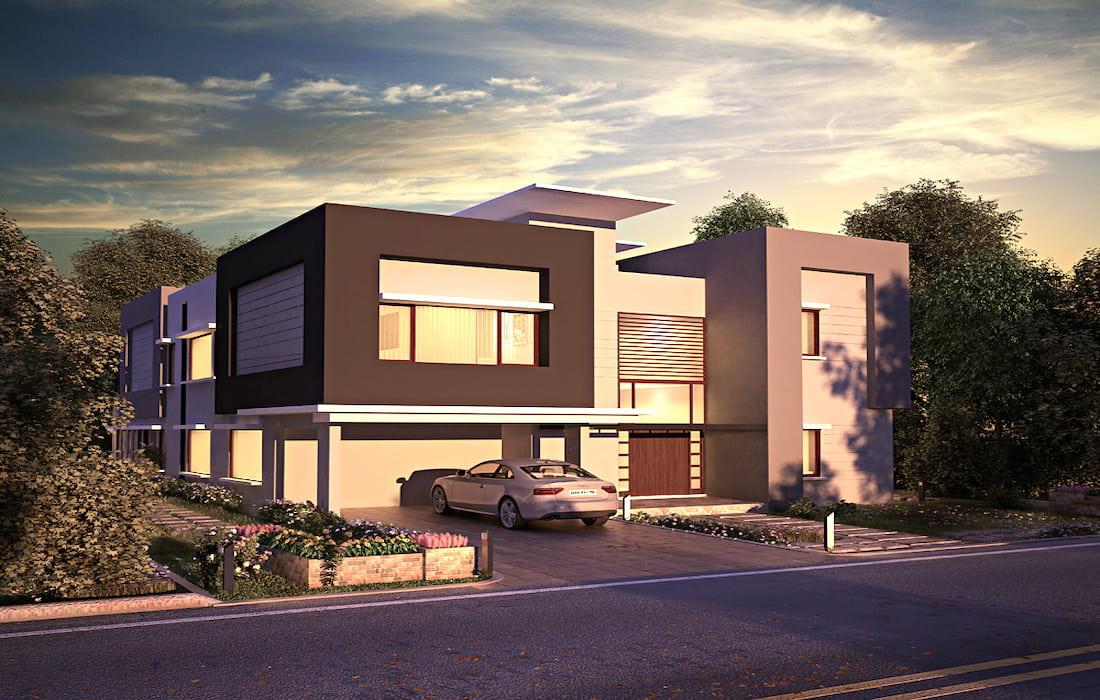 дом с плоской крышей фото 3