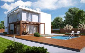 проект дома с плоской крышей фото 62