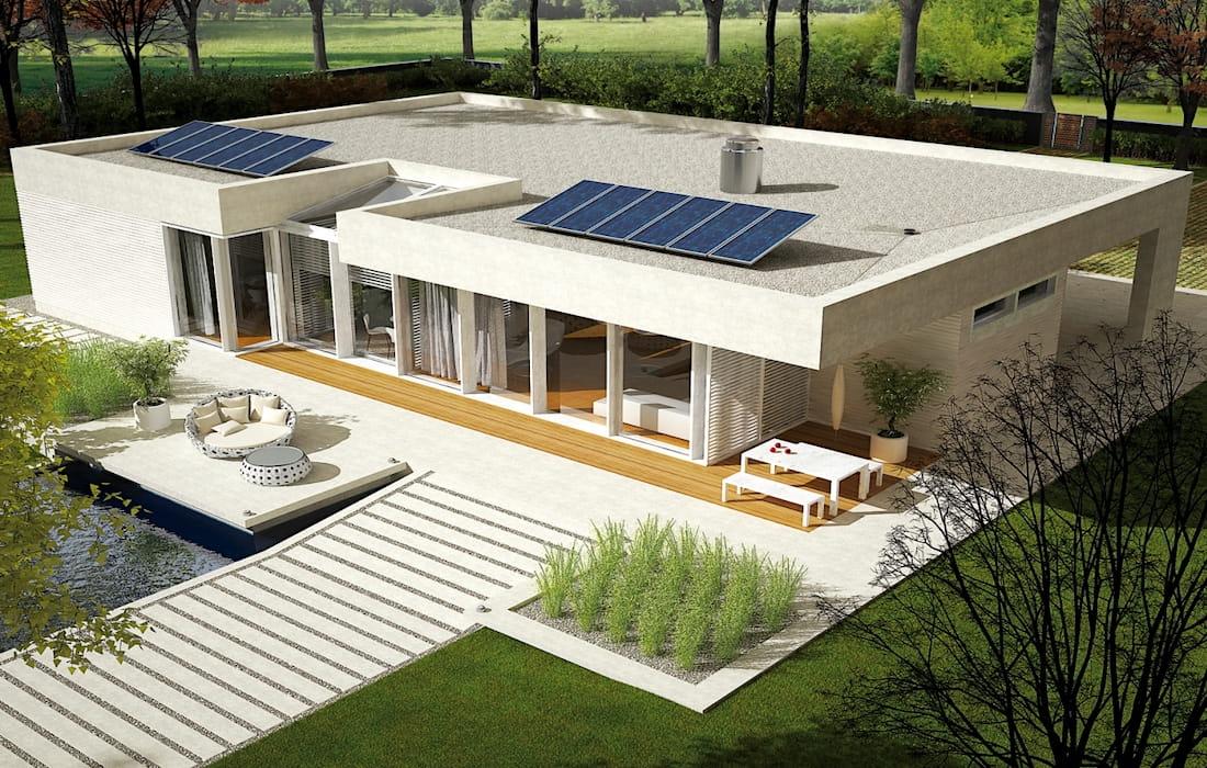 дом с плоской крышей фото 6