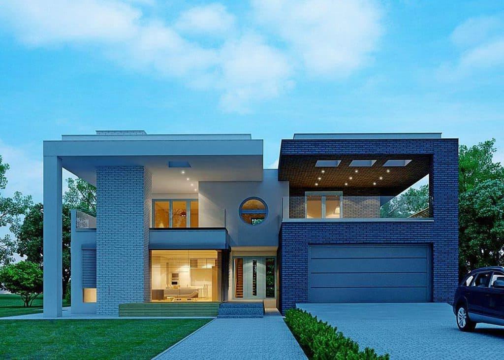 проект дома с плоской крышей фото 50