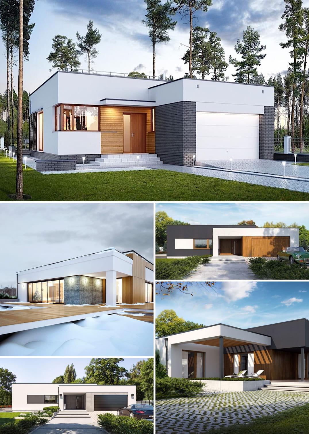 дом с плоской крышей фото 2
