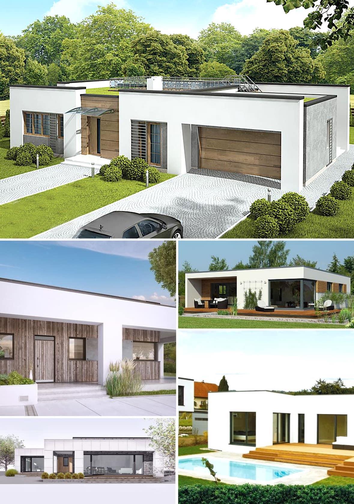 дом с плоской крышей фото 7