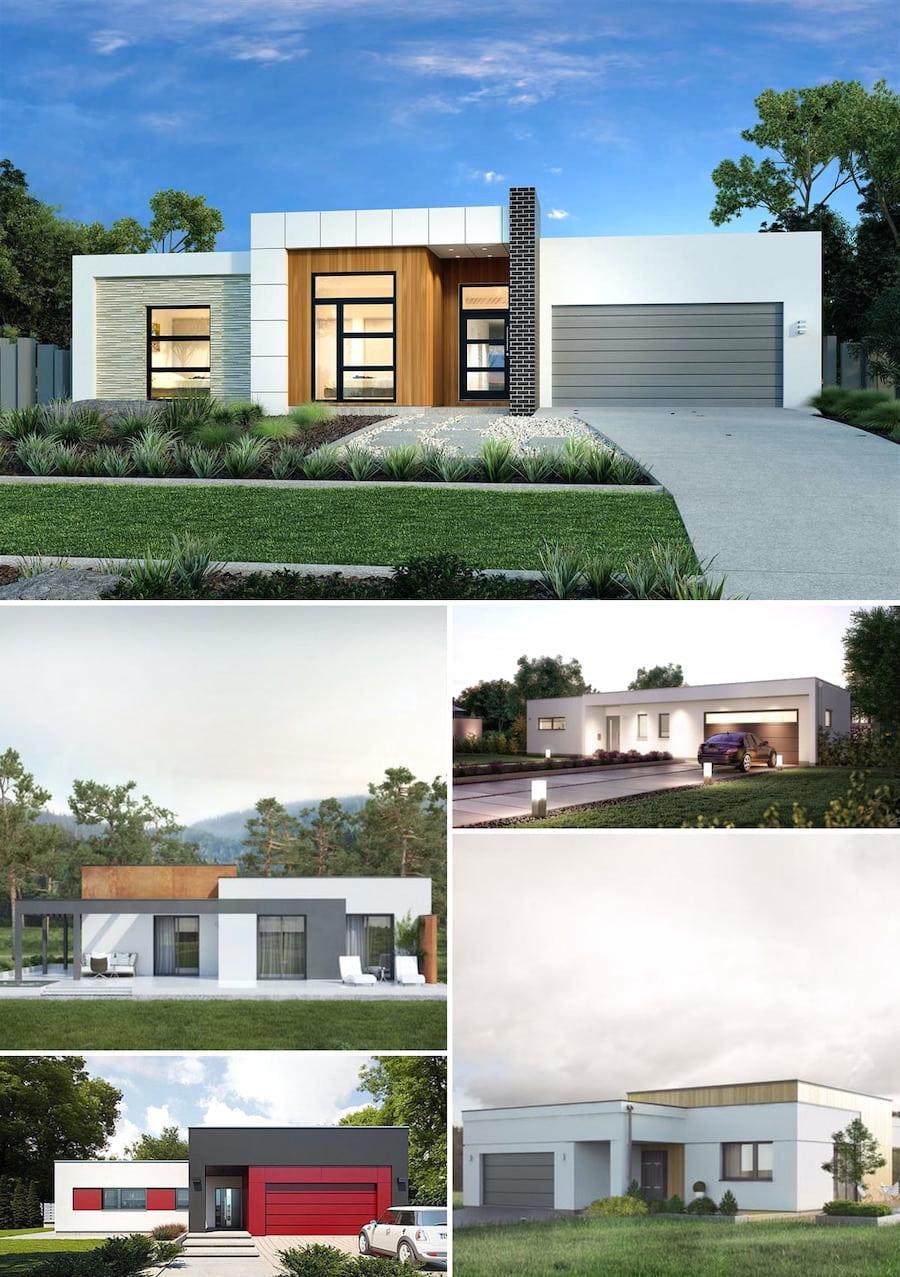 дома с плоской крышей в стиле минимализм фото 28