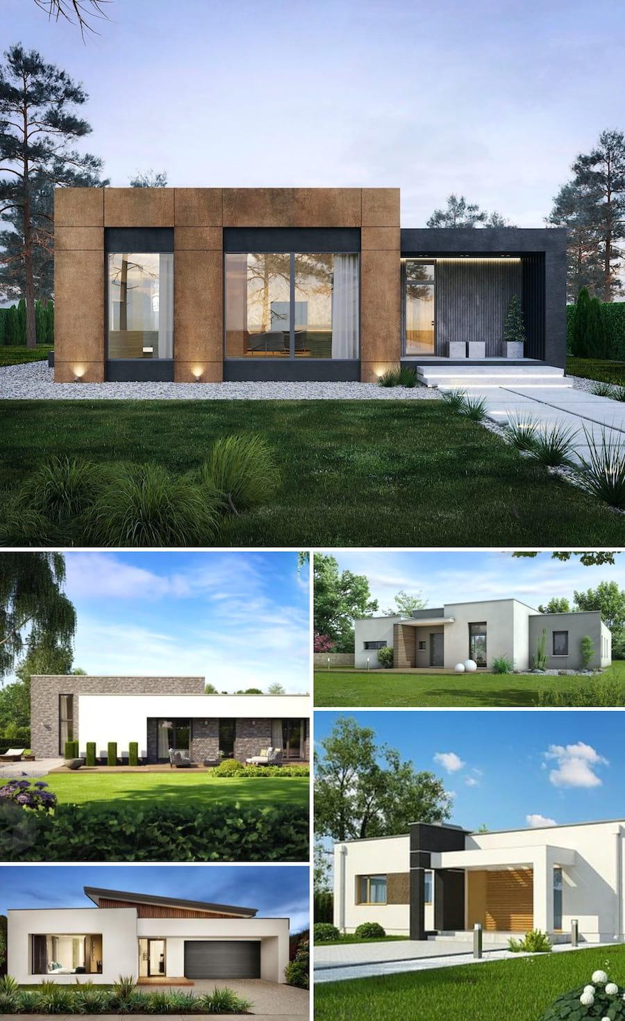 проект дома с плоской крышей фото 51