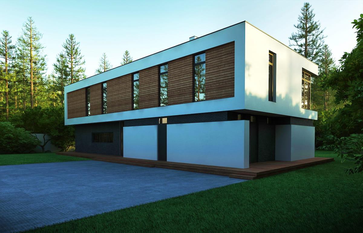 проект дома с плоской крышей фото 52