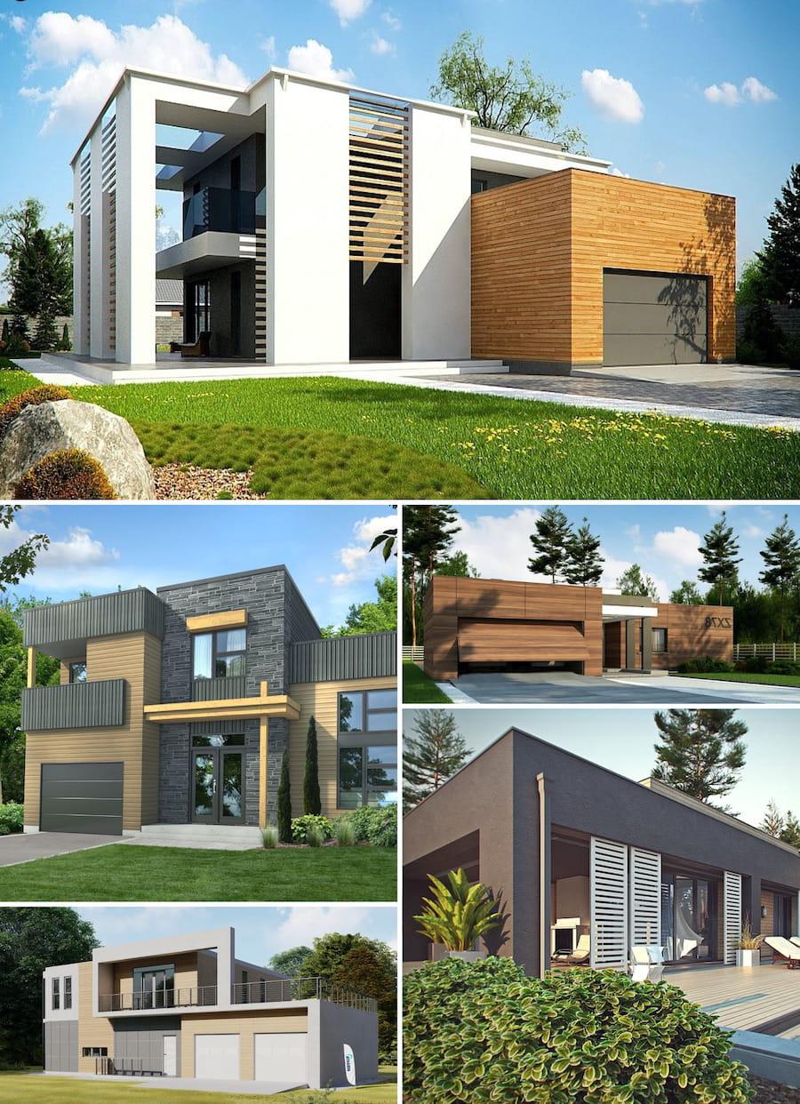 дома с плоской крышей в стиле минимализм фото 29