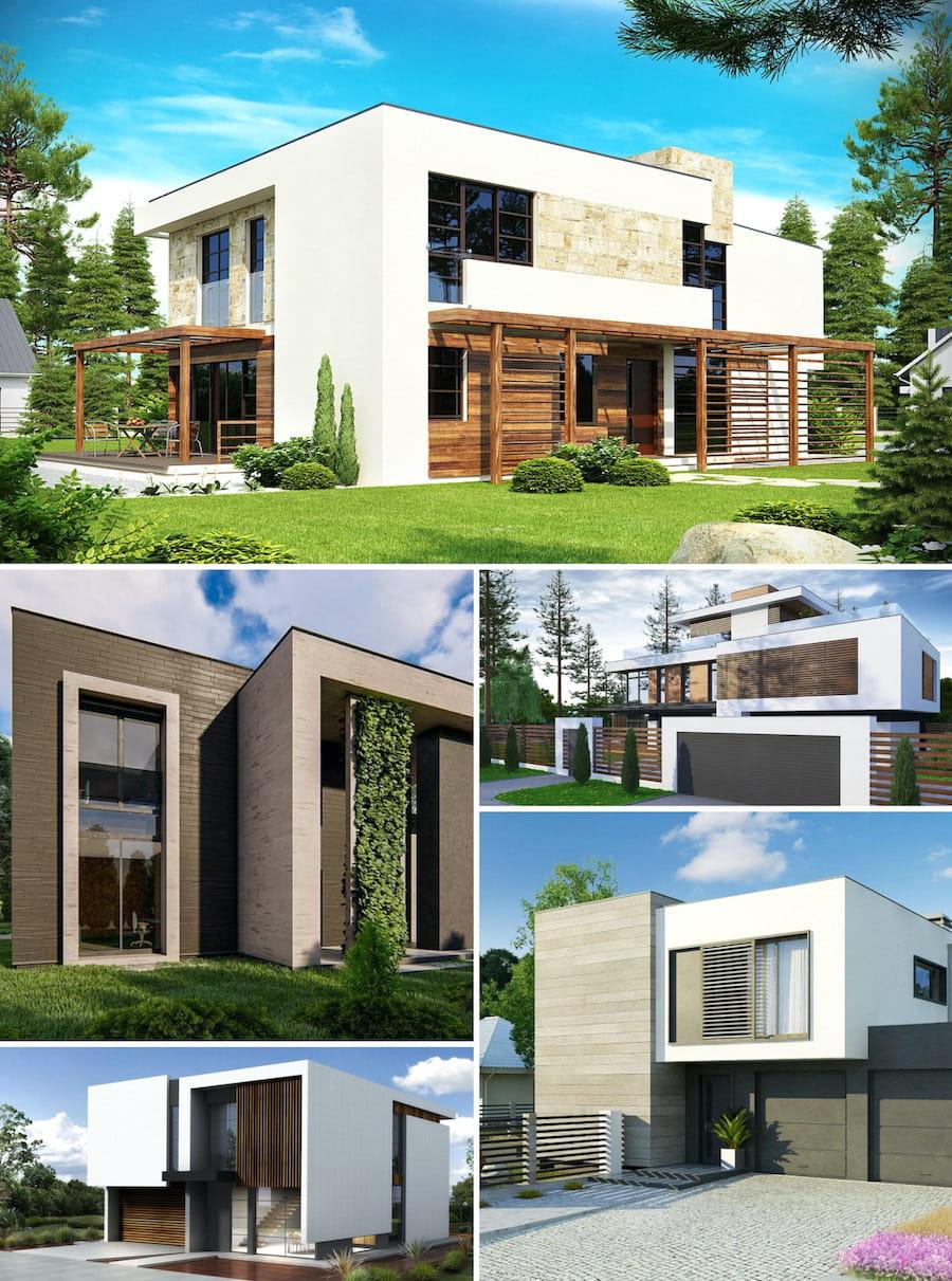 дома с плоской крышей в стиле минимализм фото 30
