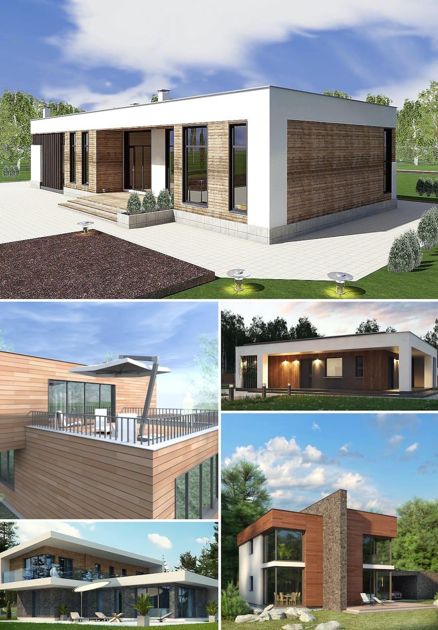 дом с плоской крышей в стиле конструктивизм фото 22