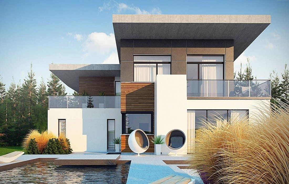 проект дома с плоской крышей фото 36