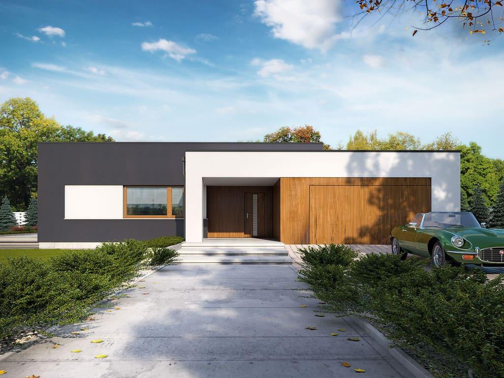 дом с плоской крышей фото 4