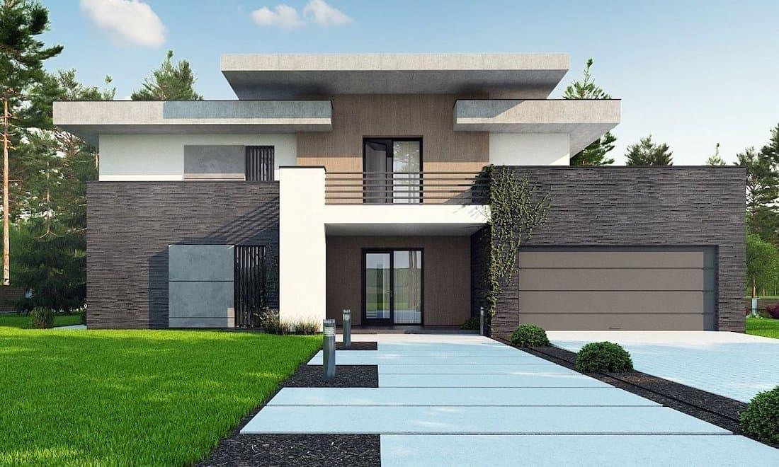 дома с плоской крышей в стиле минимализм фото 32