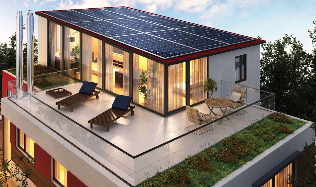 дом с плоской крышей фото 15
