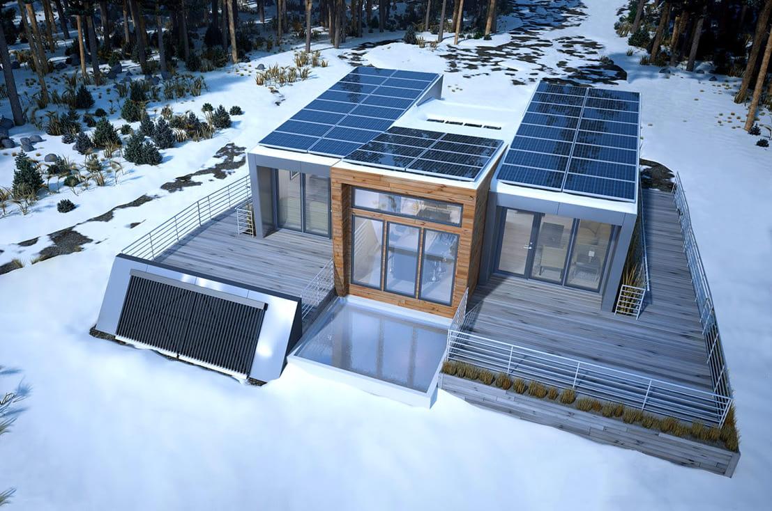 дом с плоской крышей фото 16