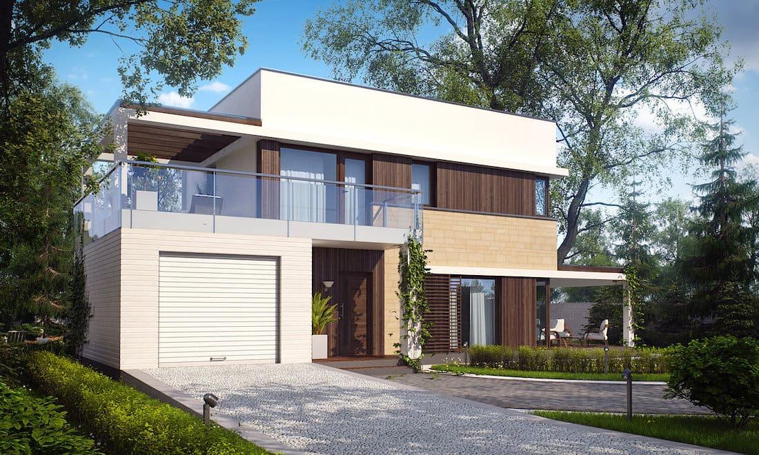 дом с плоской крышей фото 10