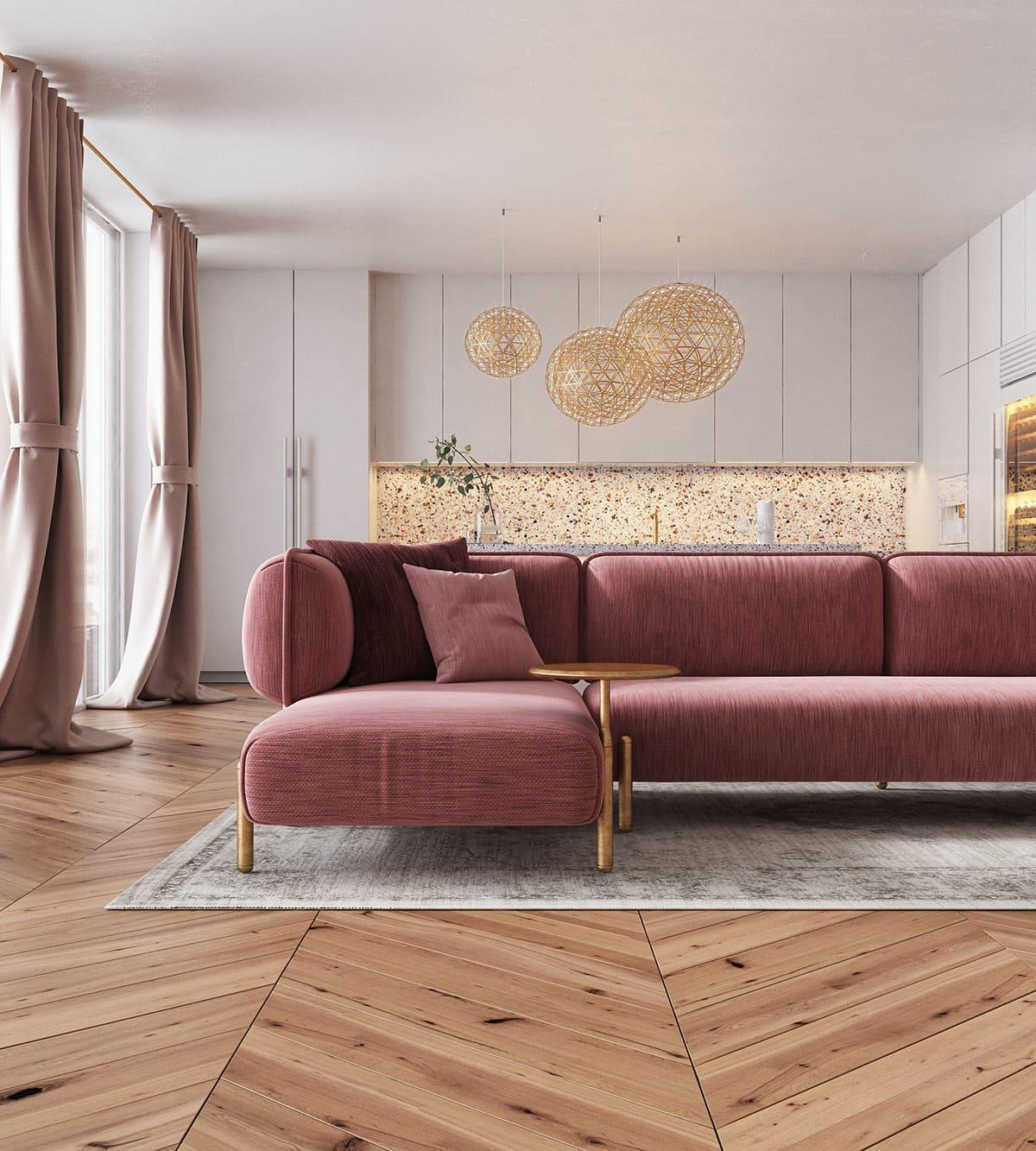 модный дизайн гостиной фото 5