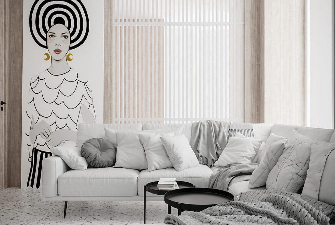 модный дизайн гостиной фото 8