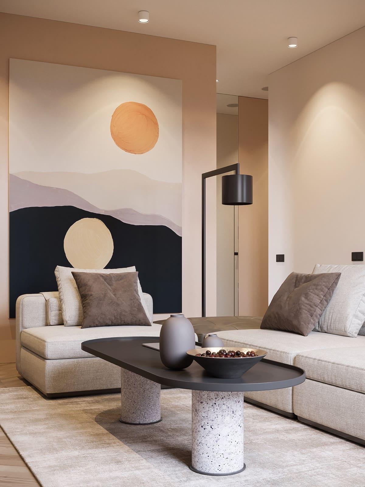 модный дизайн гостиной фото 6