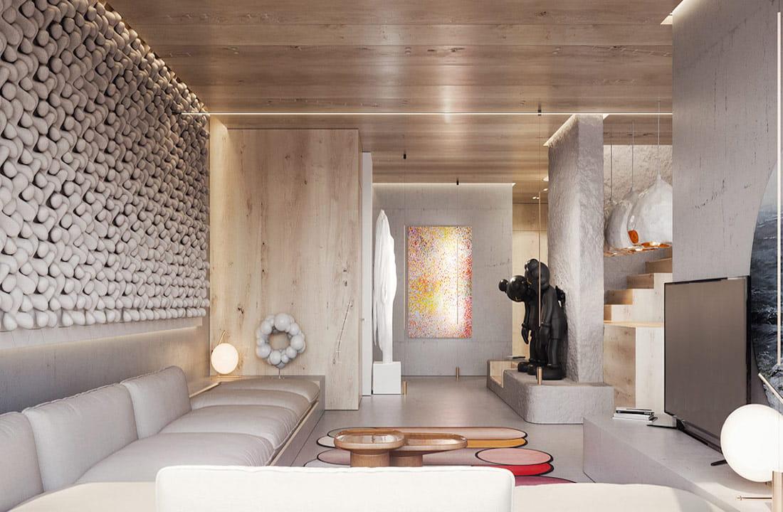 модный дизайн гостиной фото 14