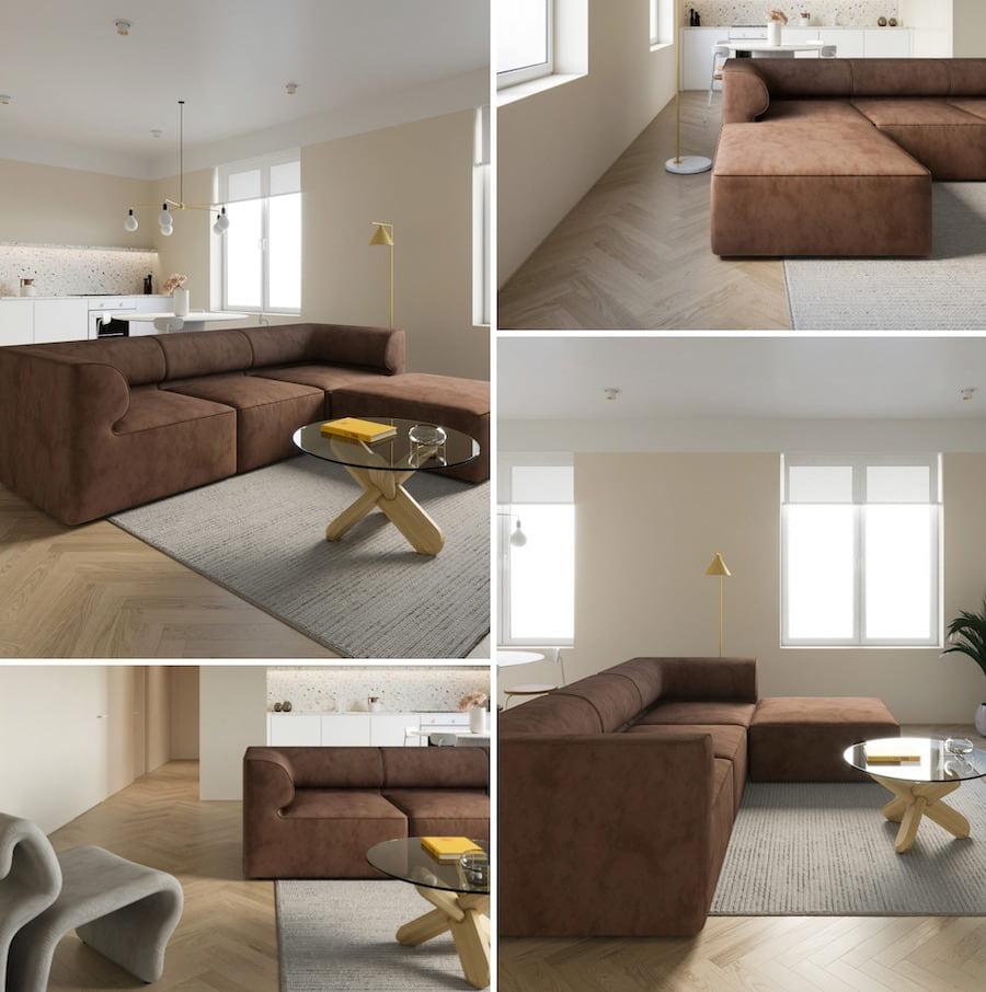 модный дизайн гостиной фото 20