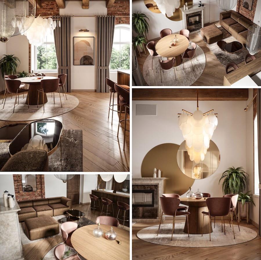 модный дизайн гостиной фото 3