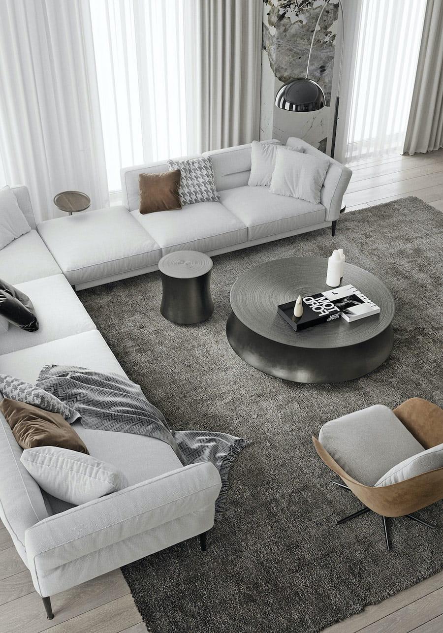 модный дизайн гостиной фото 23